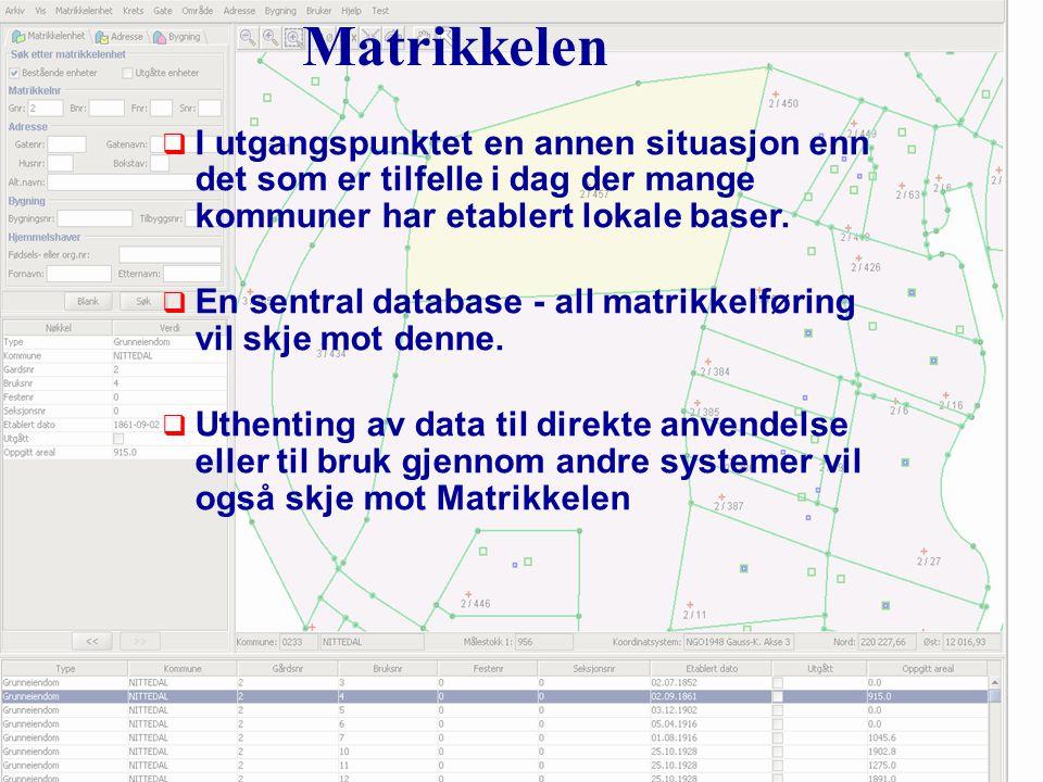 Iverksettingsplan for Matrikkelen  Fra 1.