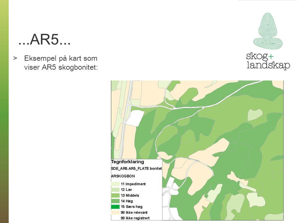 ...AR5... >Eksempel på kart som viser AR5 skogbonitet: