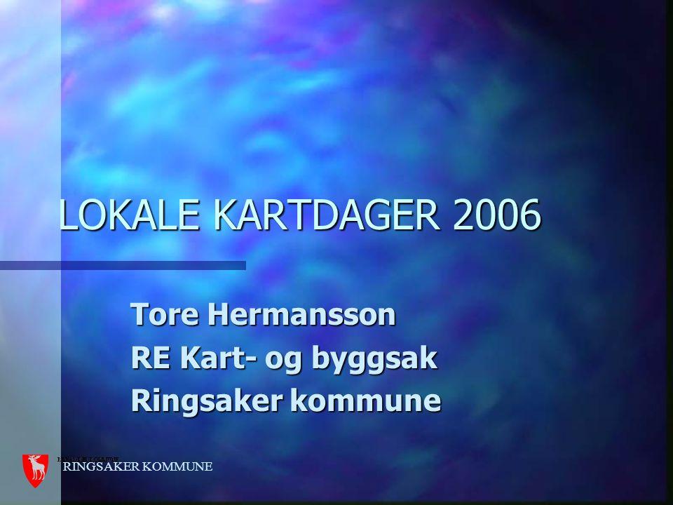 RINGSAKER KOMMUNE LOKALE KARTDAGER 2006 Tore Hermansson RE Kart- og byggsak Ringsaker kommune