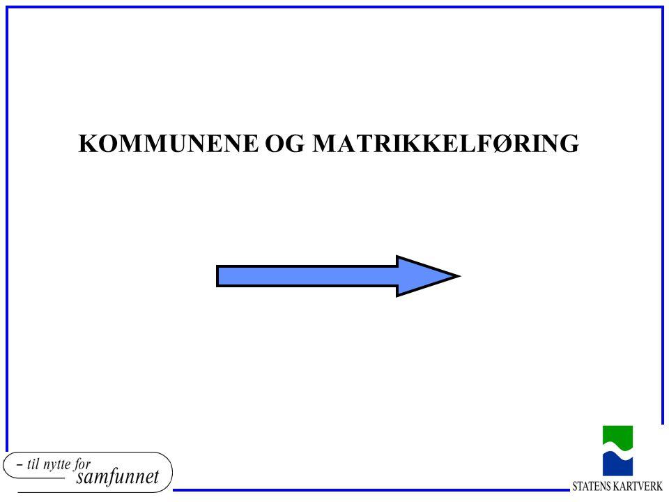 KOMMUNENE OG MATRIKKELFØRING