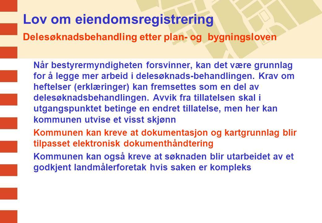 Lov om eiendomsregistrering Ny matrikkel Ny matrikkel skal i utgangspunktet skje samtidig med at loven trer i kraft.