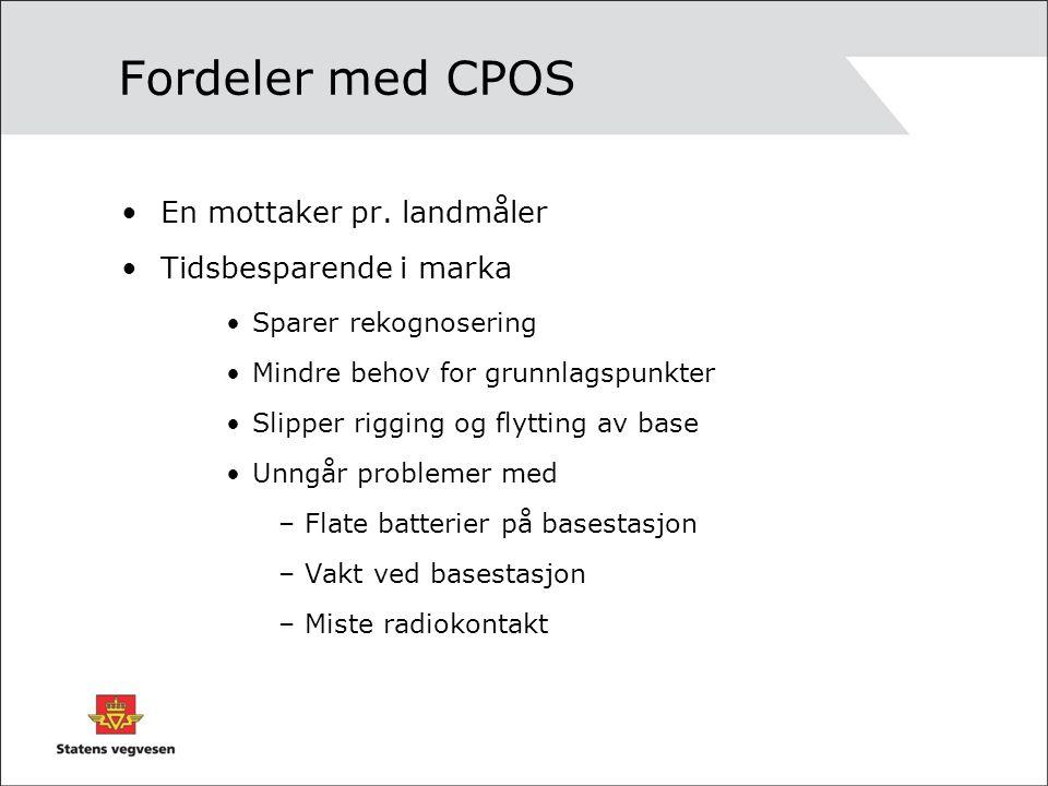Fordeler med CPOS En mottaker pr.