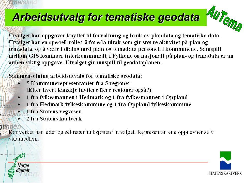 Arbeidsutvalg for tematiske geodata