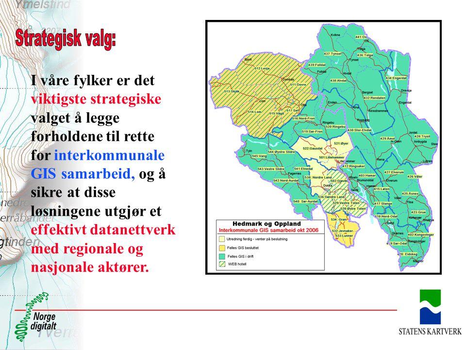 I 2007 blir Hedmark heldekket med FKB-data I 2007 blir det inngått avtaler om FKB for hele Oppland (Ferdig 2008/2009 ?)