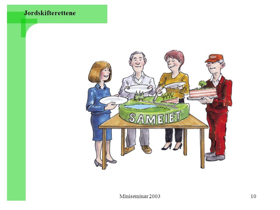 Miniseminar 200310 Jordskifterettene