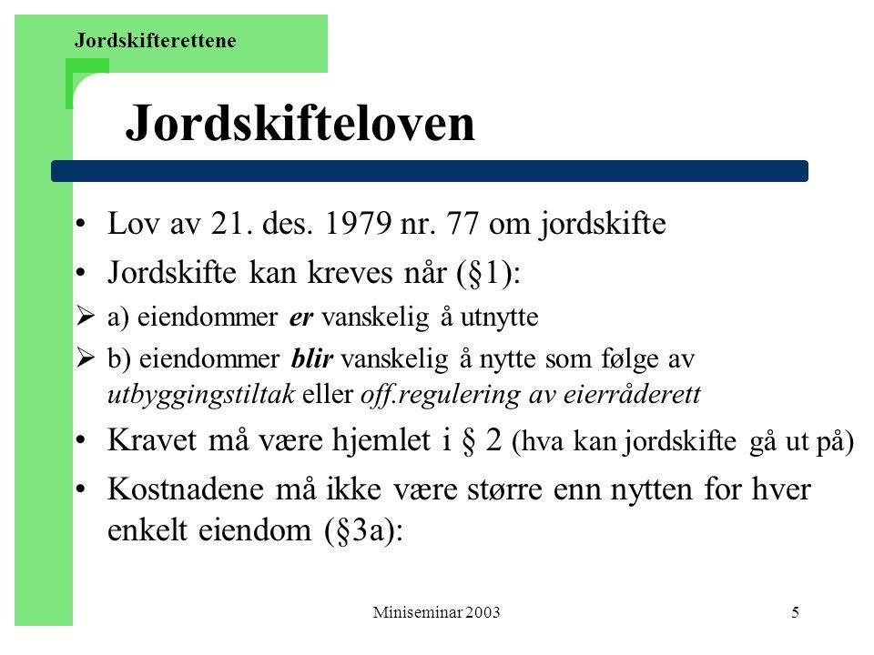 Miniseminar 200316 Avløsning av bruksretter - § 2d Varige bruksretter jfr.