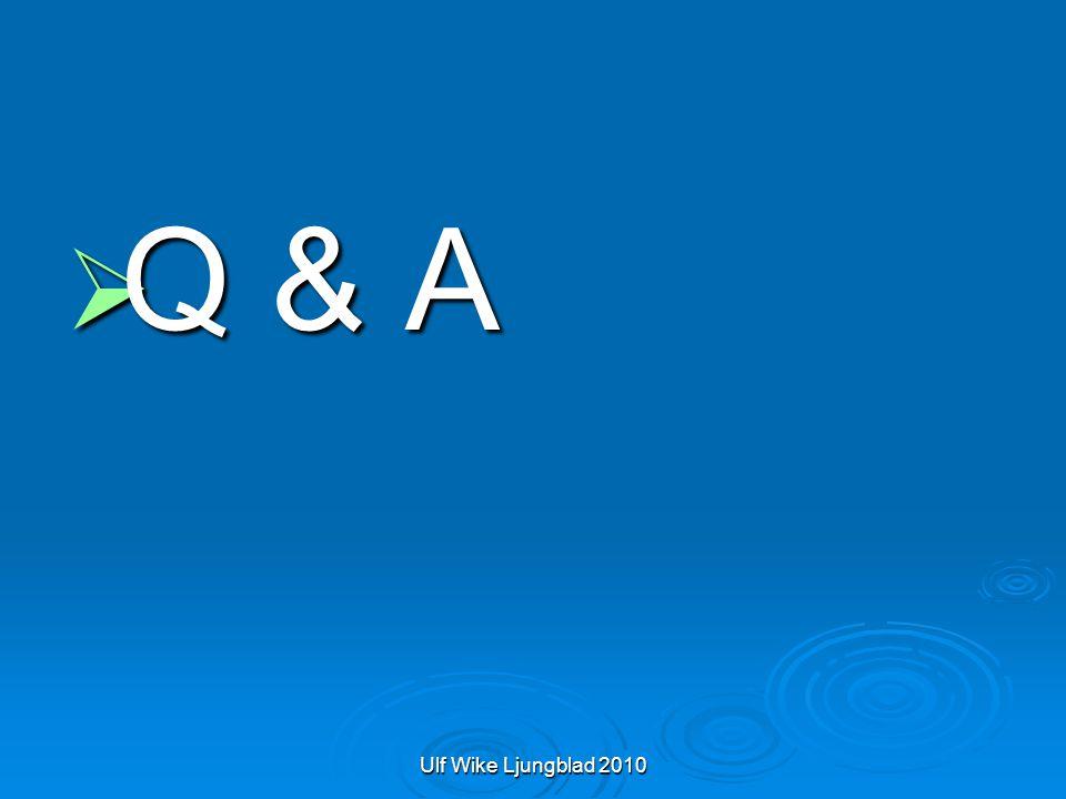 Ulf Wike Ljungblad 2010  Q & A