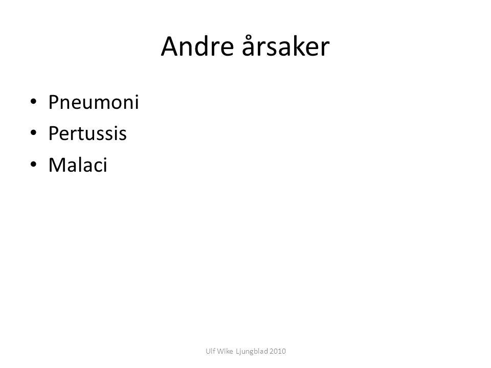 Ulf Wike Ljungblad 2010 Andre årsaker Pneumoni Pertussis Malaci