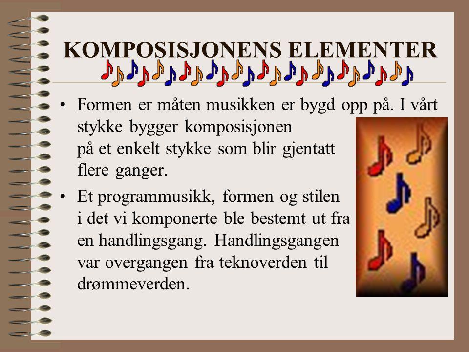 KOMPOSISJONENS ELEMENTER Formen er måten musikken er bygd opp på.