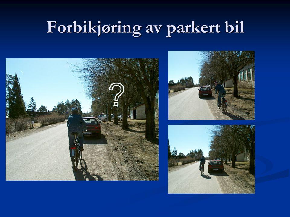 Forbikjøring av parkert bil