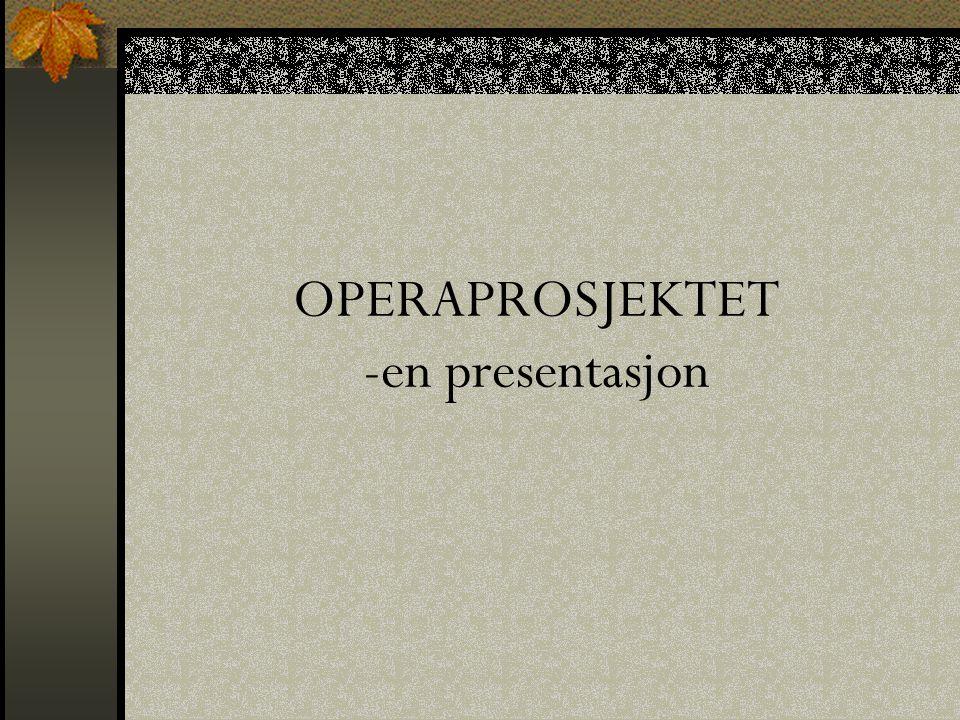 OPPRINNELSEN Begynnelsen av 80 – tallet, New York Utviklet seg videre til The Royal Opera House i London Kurs for lærere i England og resten av Europa Metoden har fått navnet HOW TO WRITE AN OPERA