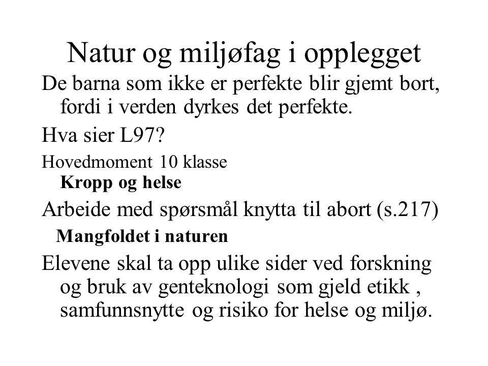 Samfunnskunnskap i opplegget Frøa fløyt i små rør med grønne merkelapper med beskrivelsen på de ulike egenskapene ungene fra frøa ville gi Hva sier L97.