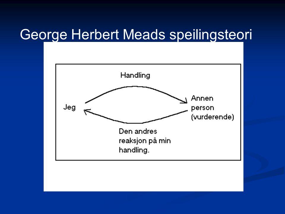 George Herbert Meads speilingsteori
