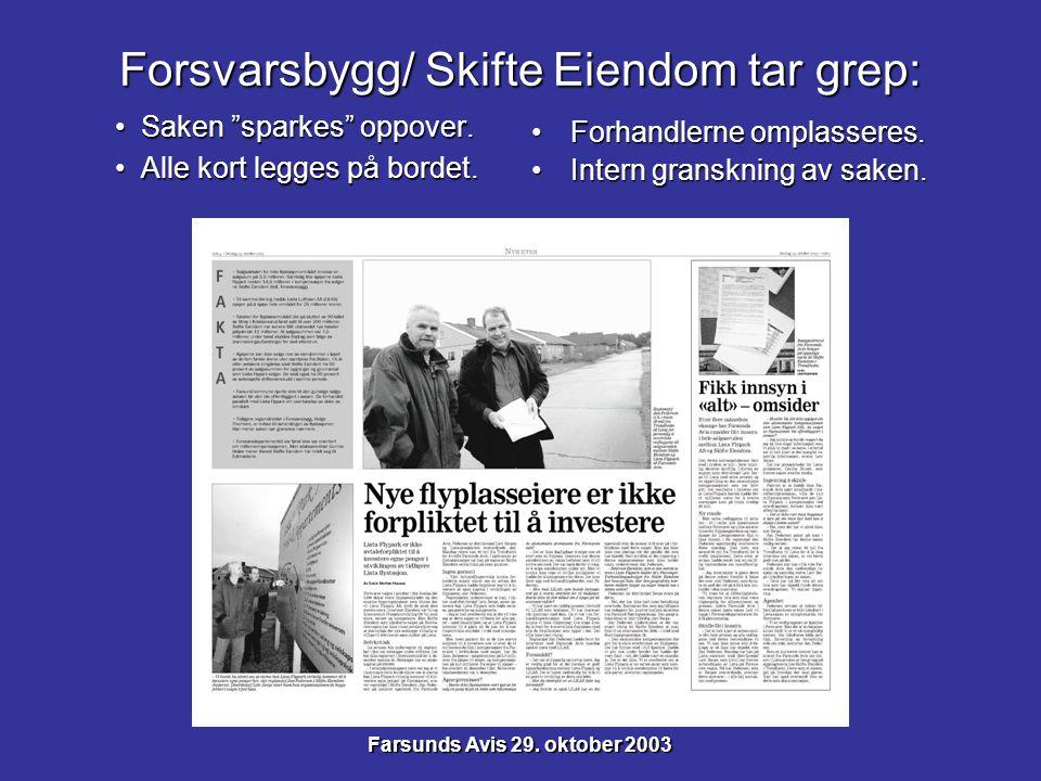 August 2004: Knusende kritikk fra internrevisor.August 2004: Knusende kritikk fra internrevisor.