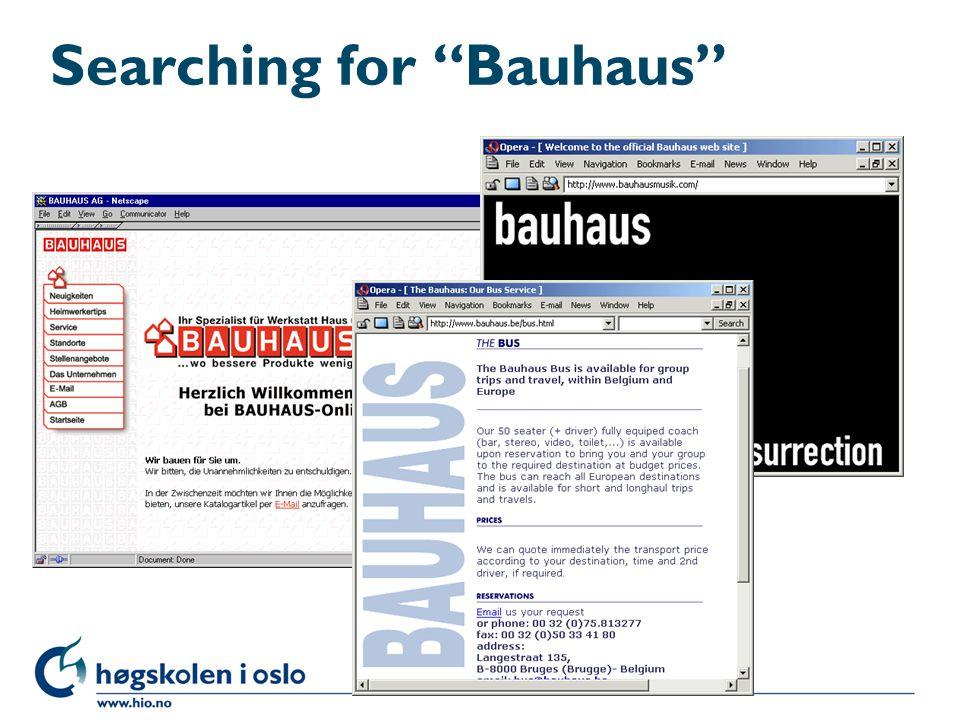 """Searching for """"Bauhaus"""""""