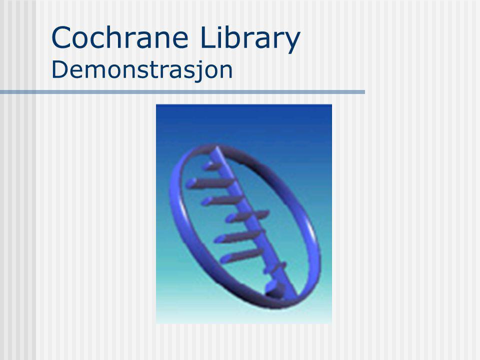 Cochrane Library Demonstrasjon