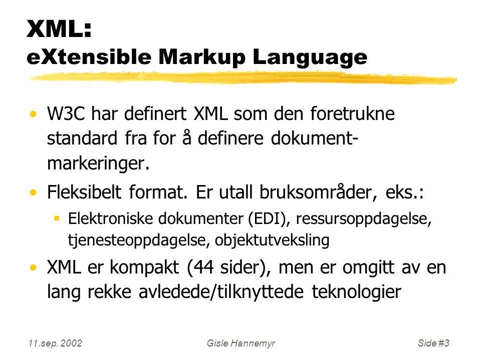 11.sep.2002Gisle HannemyrSide #24 XML: Attributter vs.