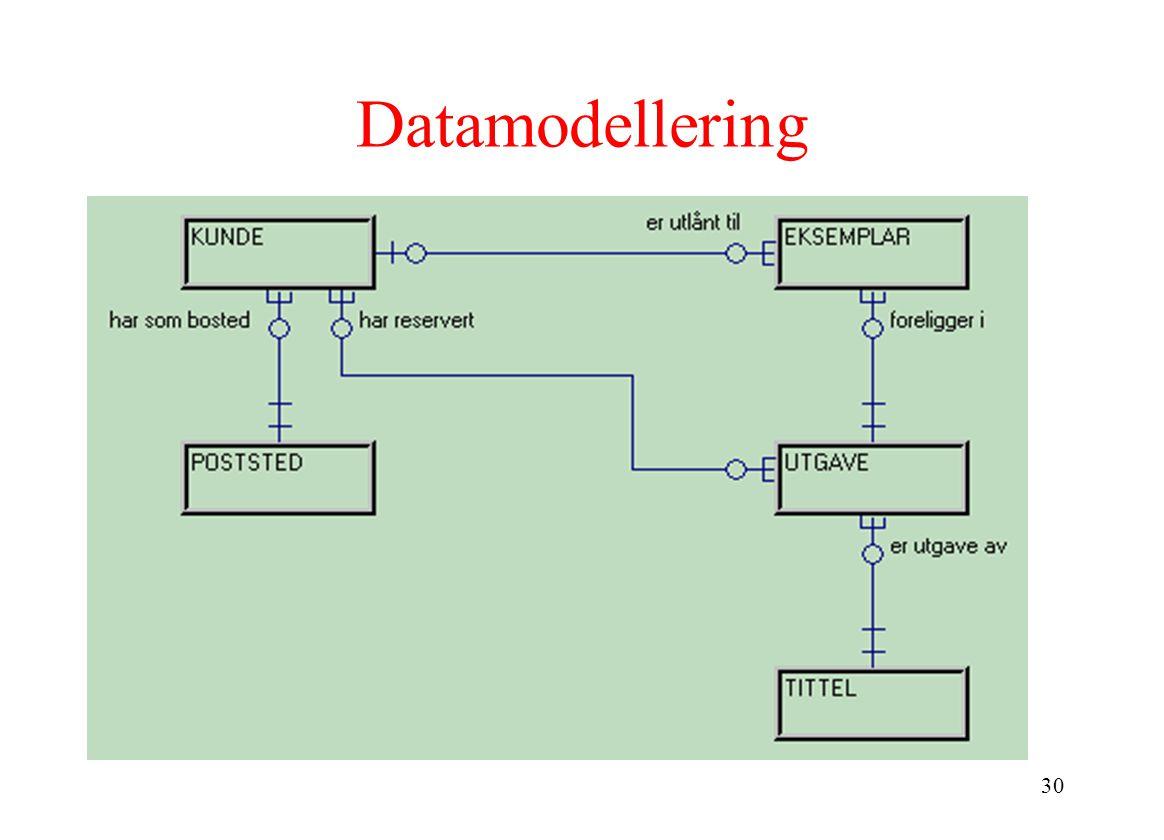 30 Datamodellering