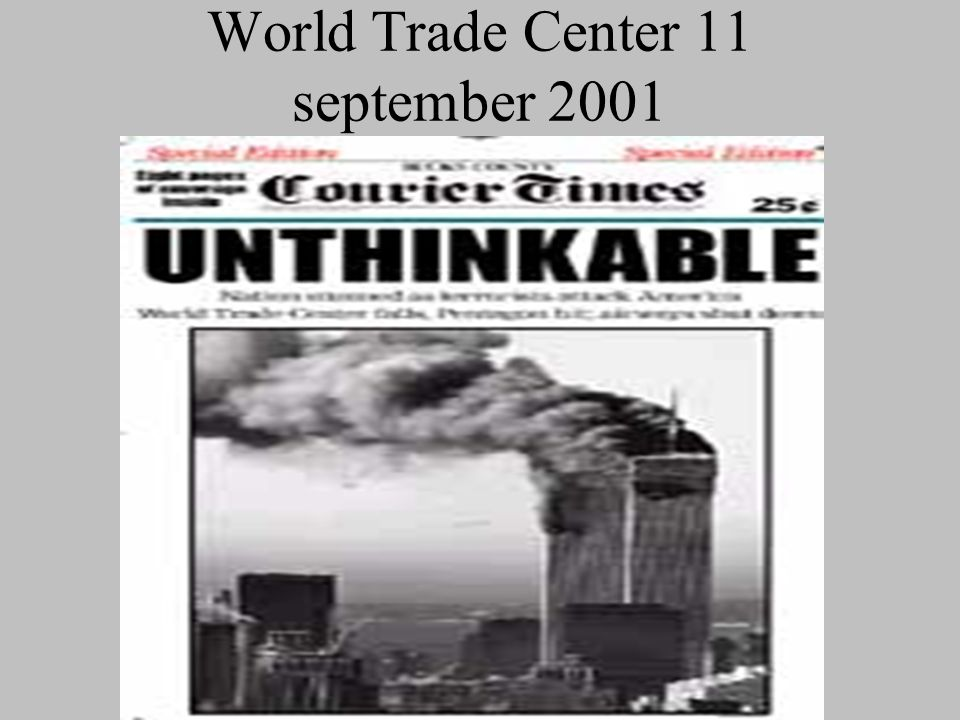 World Trade Center 11 september 2001