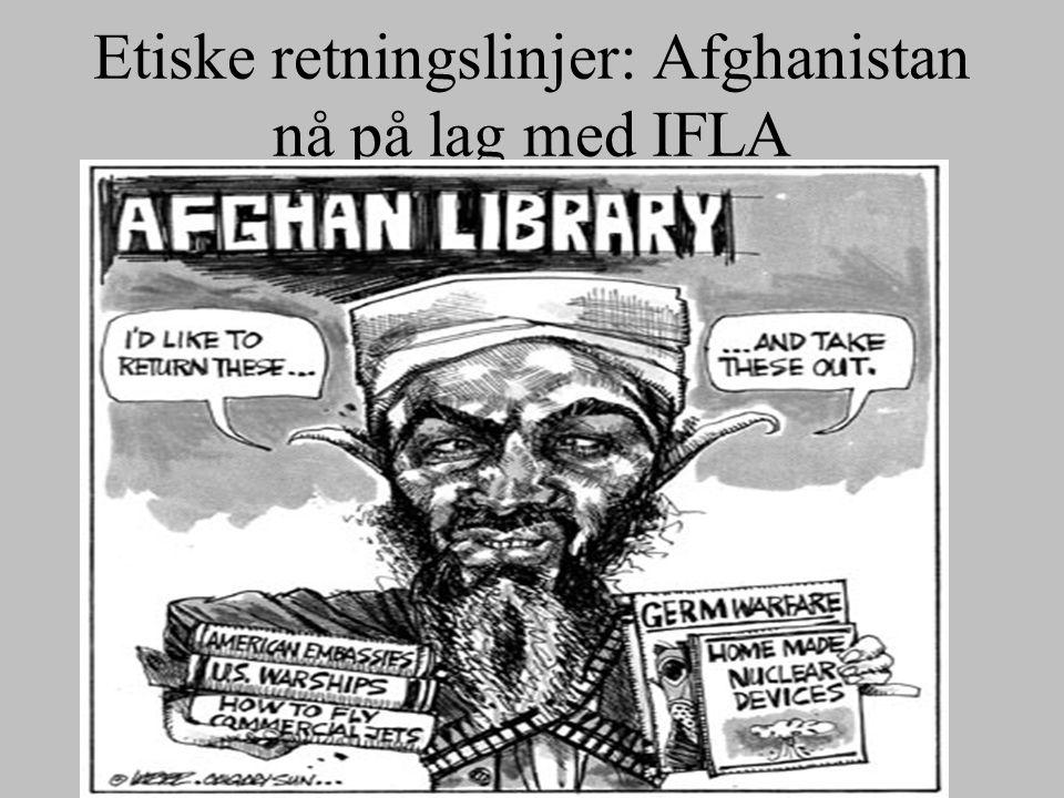 Etiske retningslinjer: Afghanistan nå på lag med IFLA