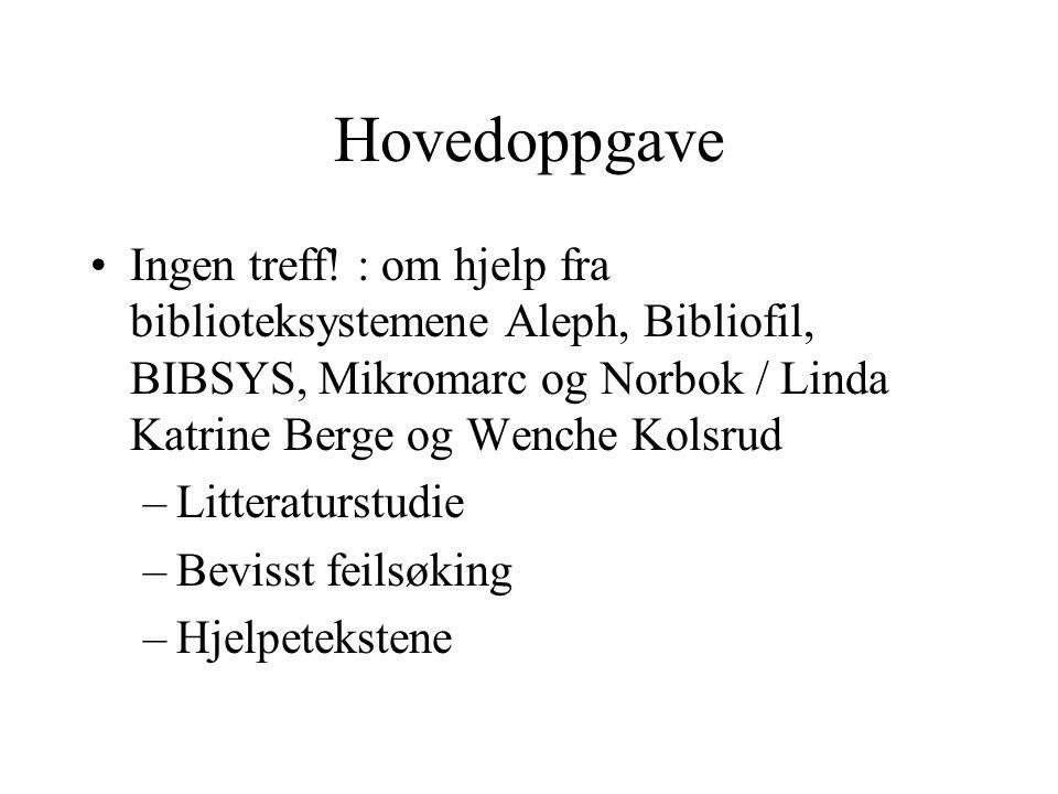 Noen av feilsøkene Ikke invertert forfatternavn Russiske navn Emnefelt Over 1000 treff Forfatter - tittelfelt