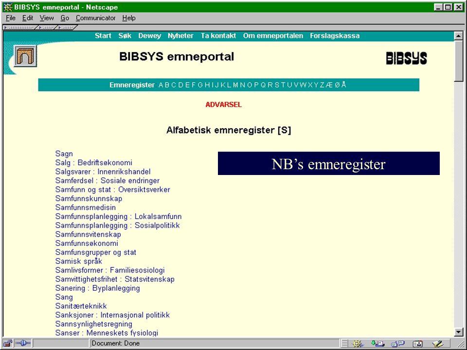 NB's emneregister