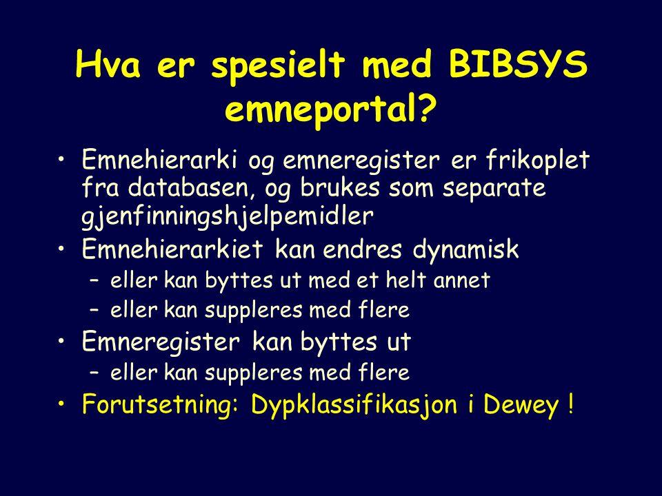Hva er spesielt med BIBSYS emneportal.