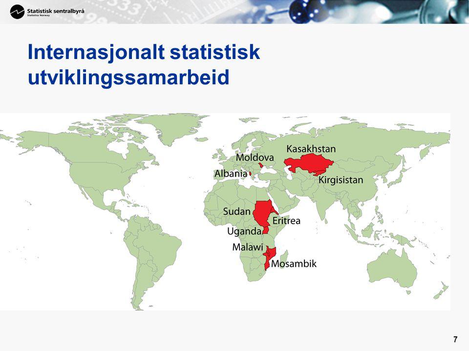 7 Internasjonalt statistisk utviklingssamarbeid