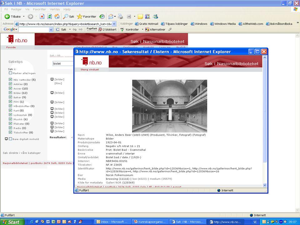 Kunnskapsorganisasjonsdagene 27. januar 2006