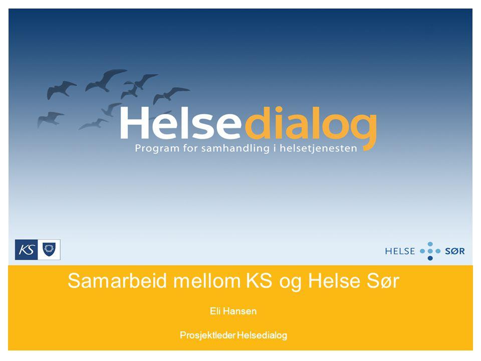 Samarbeid mellom KS og Helse Sør Eli Hansen Prosjektleder Helsedialog