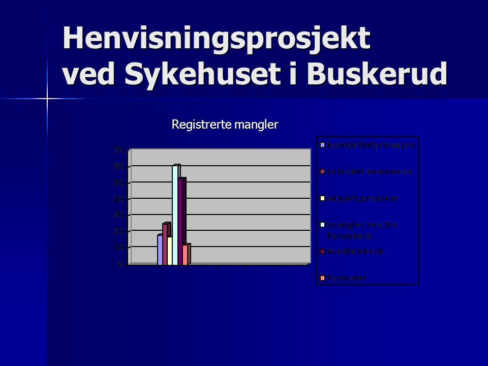 Henvisningsprosjekt ved Sykehuset i Buskerud Registrerte mangler