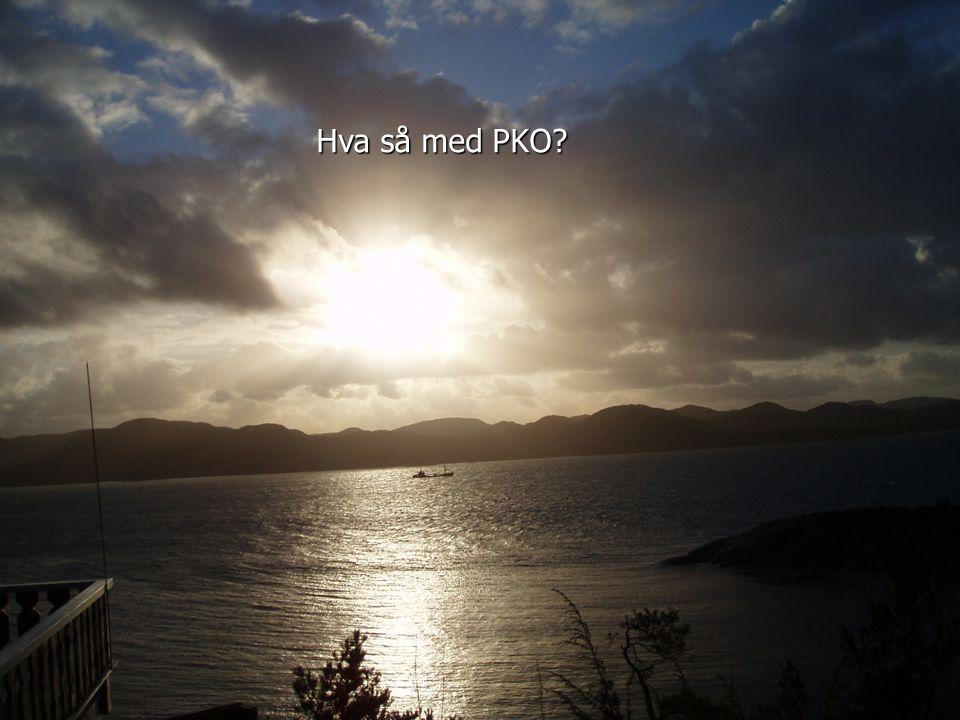 Hva så med PKO?