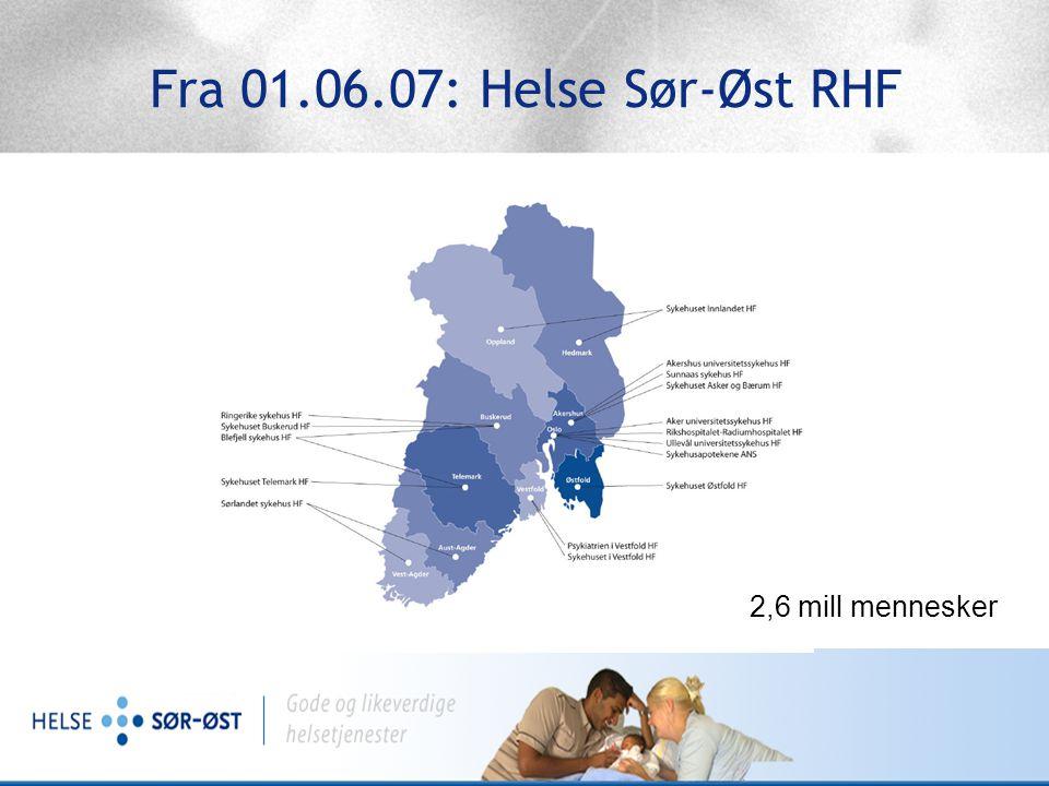 PKO ordningene i Helse Sør-Øst RHF I gamle Helse Sør fra 2005: