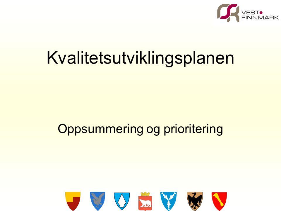 Kvalitetsutviklingsplanen Oppsummering og prioritering