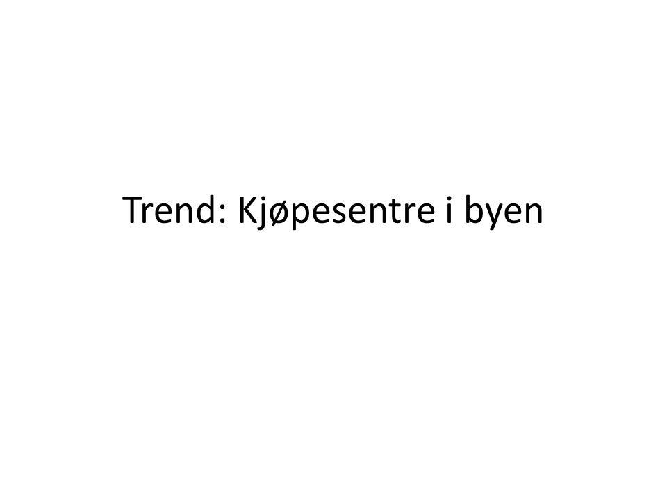 Trend: Kjøpesentre i byen