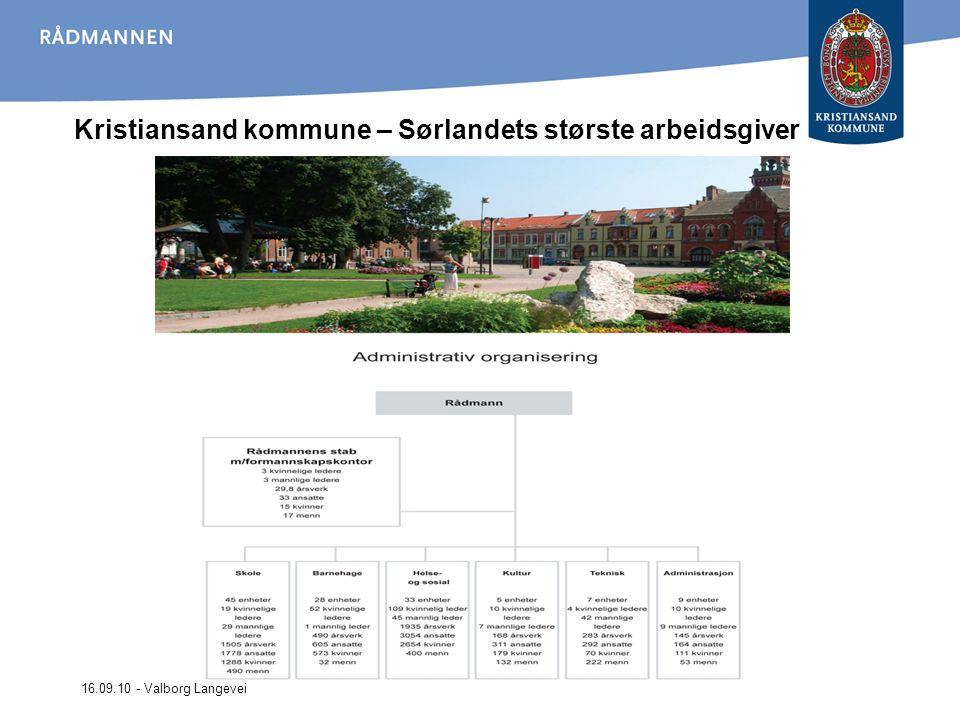 16.09.10 - Valborg Langevei Kristiansand kommune – Sørlandets største arbeidsgiver