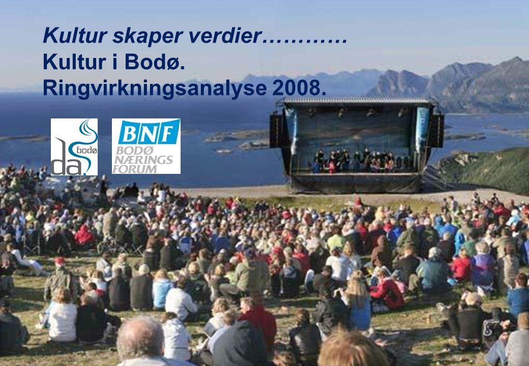 Kultur skaper verdier………… Kultur i Bodø. Ringvirkningsanalyse 2008.