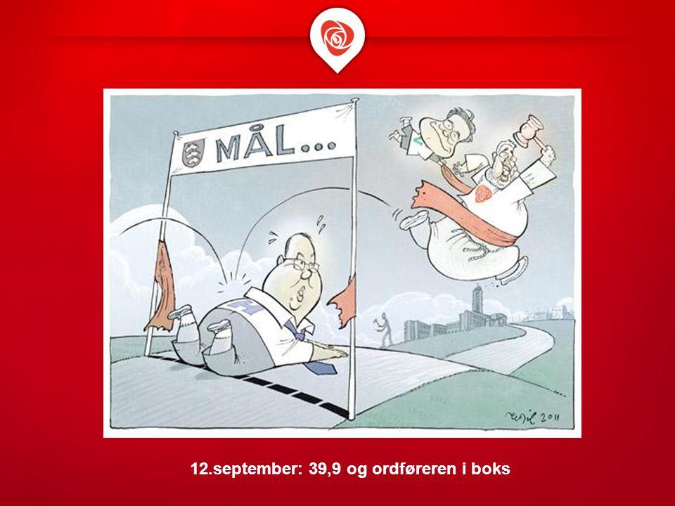 12.september: 39,9 og ordføreren i boks