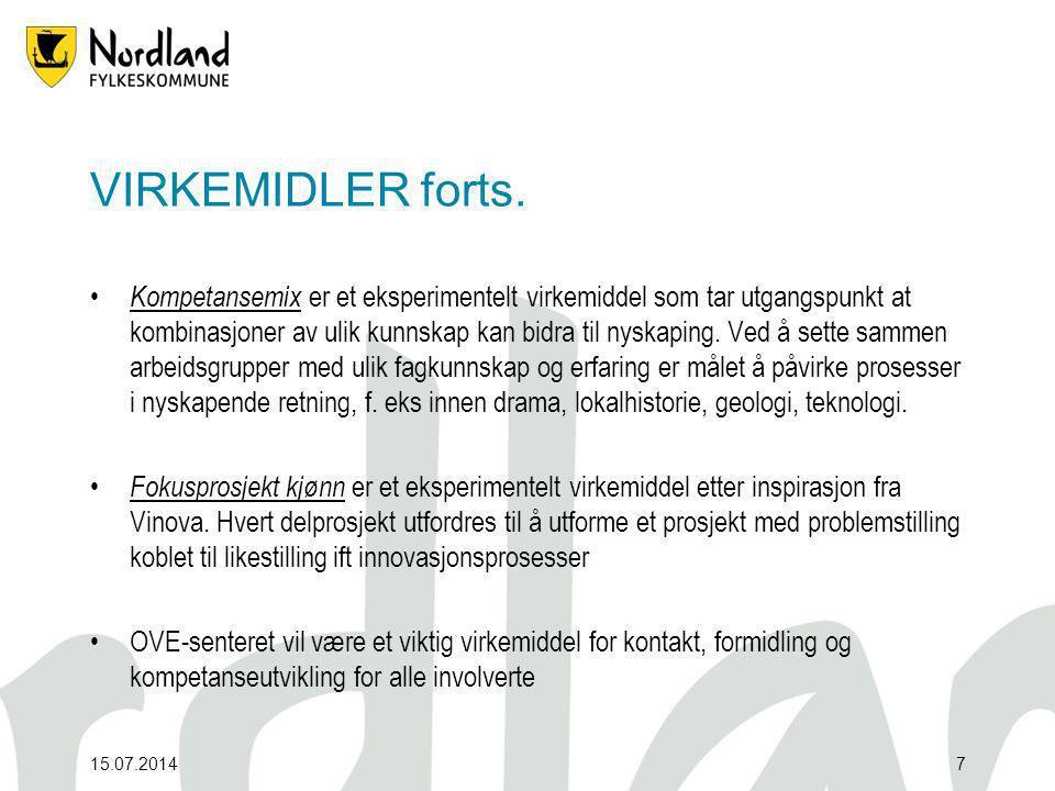 15.07.20147 VIRKEMIDLER forts.