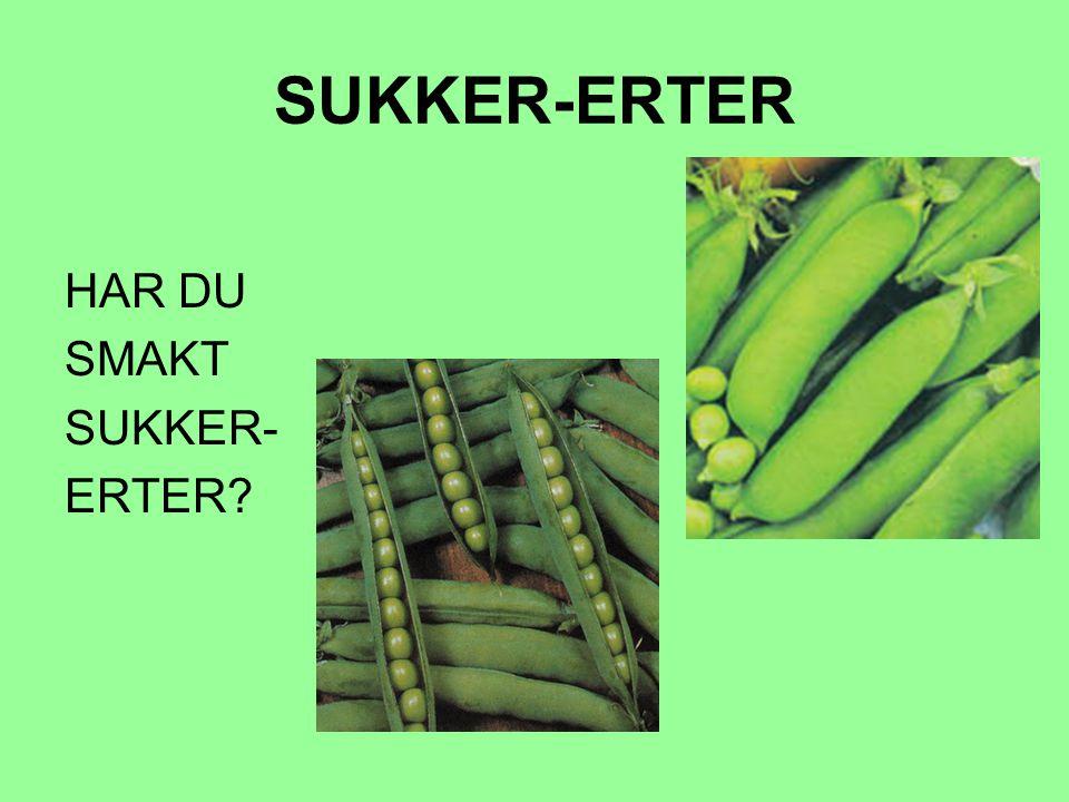 SUKKER-ERTER HAR DU SMAKT SUKKER- ERTER?