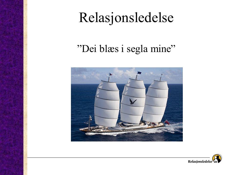 """Relasjonsledelse """"Dei blæs i segla mine"""""""