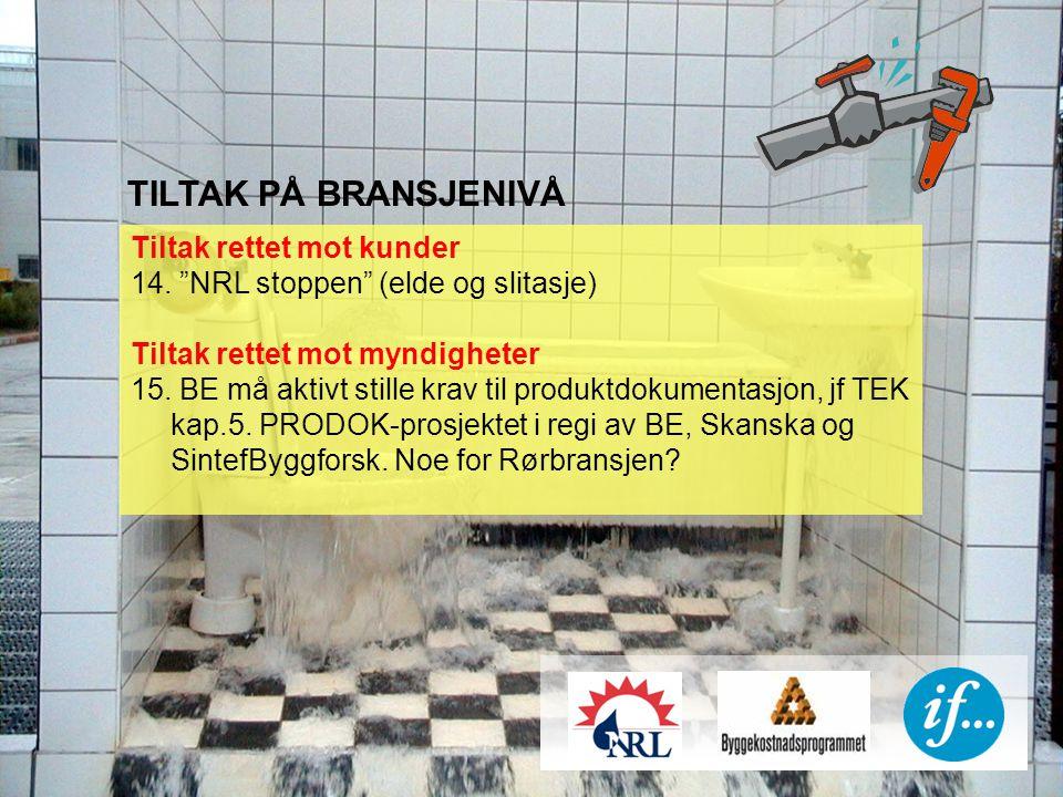 TILTAK PÅ BRANSJENIVÅ Tiltak rettet mot kunder 14.
