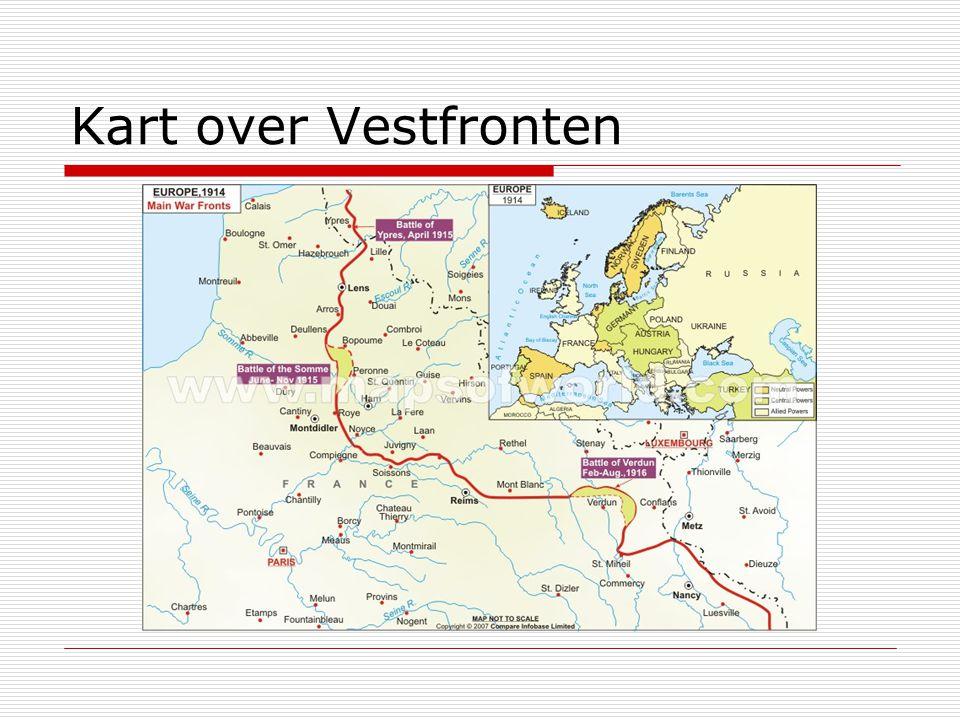 Kart over Vestfronten