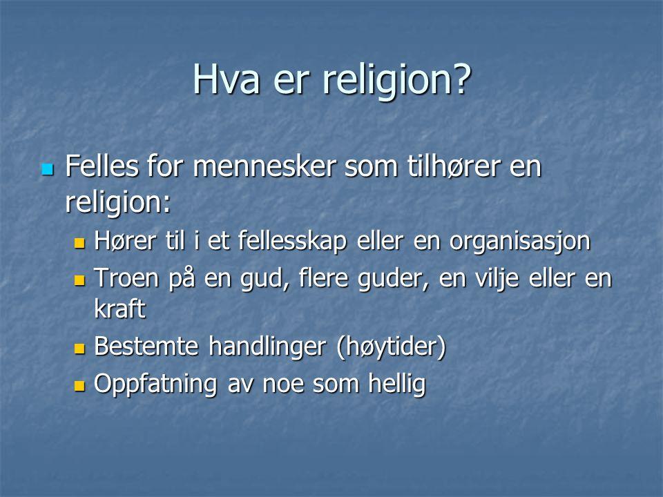 Hva er religion.