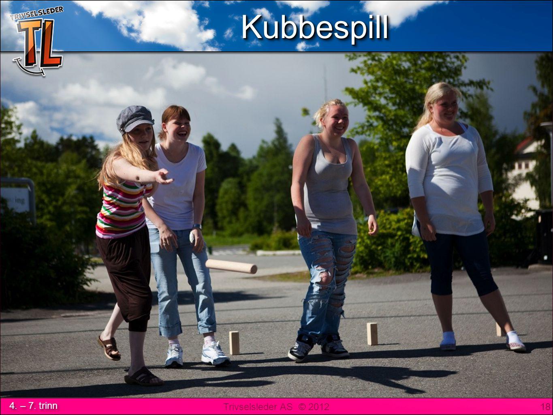Trivselsleder AS © 2012 4. – 7. trinn KubbespillKubbespill 18 KubbespillKubbespill