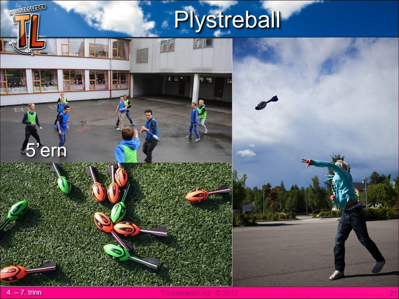 Trivselsleder AS © 2012 4. – 7. trinn PlystreballPlystreball 21 5'ern PlystreballPlystreball