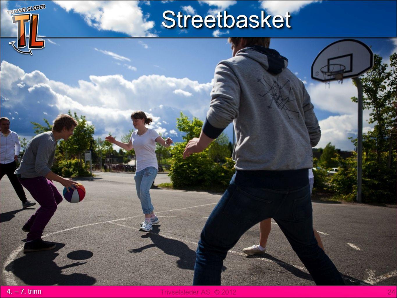 Trivselsleder AS © 2012 4. – 7. trinn STreetbasketSTreetbasket 24 StreetbasketStreetbasket