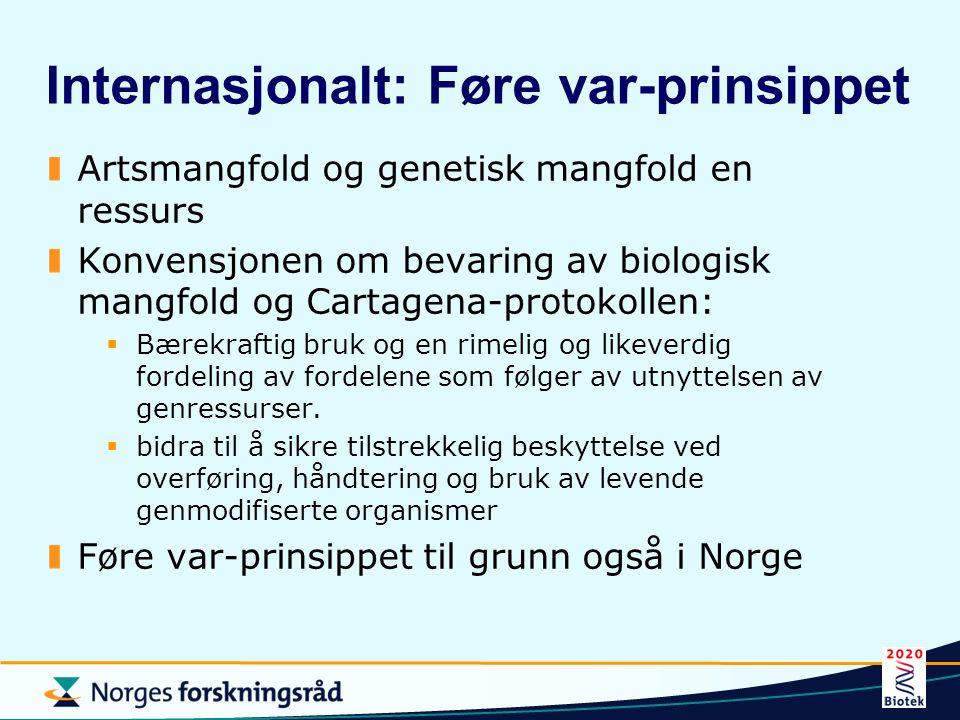 Bioteknologi til nytte for miljø unngå forurensing, f.eks.