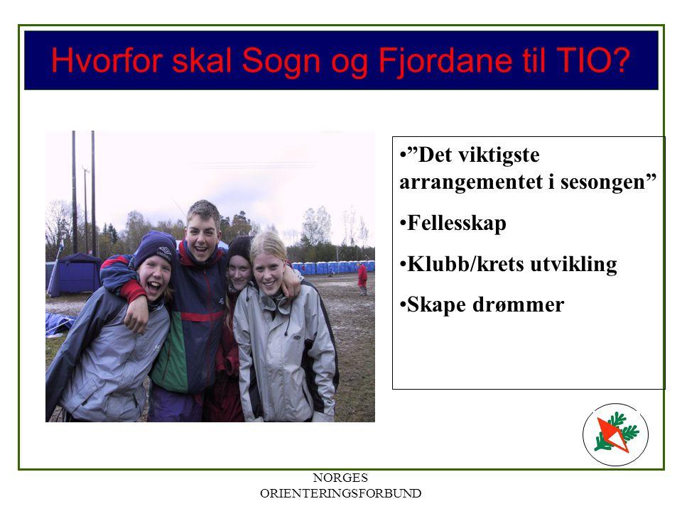 NORGES ORIENTERINGSFORBUND Hvorfor skal Sogn og Fjordane til TIO.