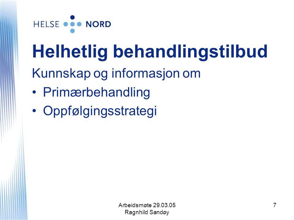 Arbeidsmøte 29.03.05 Ragnhild Sandøy 18 Faglig utvikling hos medisinsk personell Kompetansestrategi mangler.